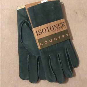 🔥VINTAGE NWT🔥Isotoner Pile Lined Country Gloves.